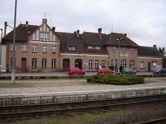 Railway station in Brodnica